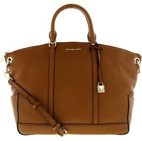 Michael Kors Women's Large Beckett Small Pebble Top Zip Leather Shoulder Bag Satchel - Acorn - ACORN - STYLE