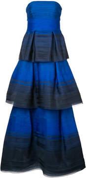 Carolina Herrera strapless degradé gown