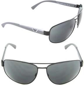 Emporio Armani EA 2036 3001/87 Rectangle Sunglasses Matte Black/Grey Lens