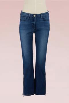3x1 3 X 1 Midway gusset zipper crop jean
