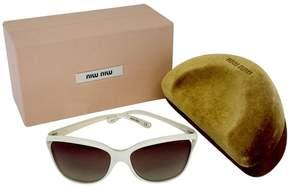 Miu Miu Ivory Frame Brown Lens Sunglasses
