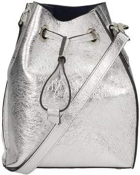 L'Autre Chose Iride Mini Bag Laminated Silver Leather