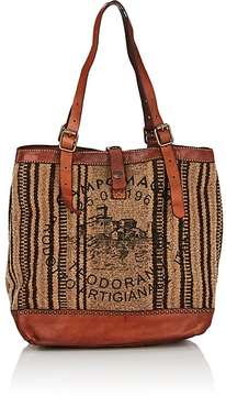 Campomaggi CAMPOMAGGI WOMEN'S BLANKET-STITCH LARGE TOTE BAG