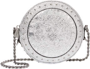 Balmain Disco Studded Silver Circle Crossbody Bag