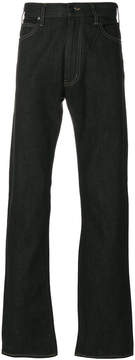 Armani Jeans stitch detail bootcut jeans