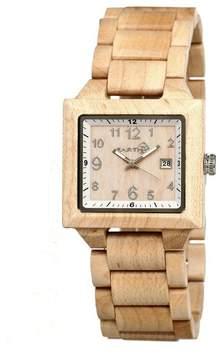 Earth Watches Culm Khaki Tan Wood Unisex Watch