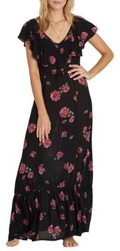 Billabong Women's Southern Border Ruffled Maxi Dress