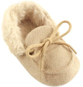 Luvable Friends Newborn Baby Girls Cozy Moccasin