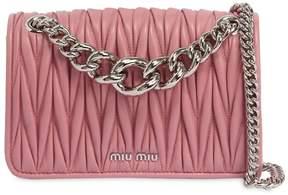 Miu Miu Club Quilted Leather Shoulder Bag