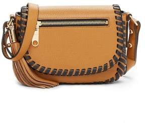 Milly Astor Leather Whipstitch Small Saddle Crossbody