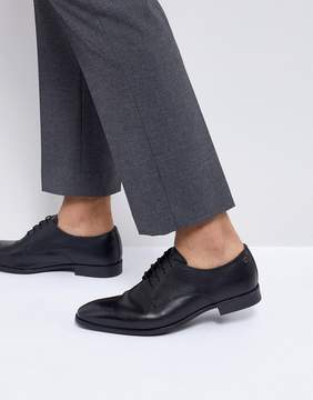 Base London Shilling Waxy Leather Derby Shoes