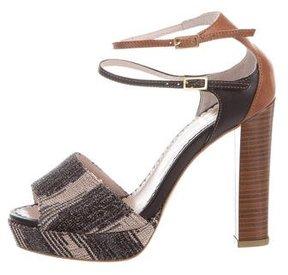M Missoni Woven Platform Sandals