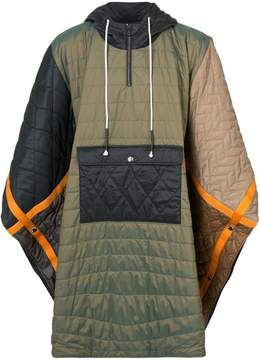 Mostly Heard Rarely Seen quilted padded poncho
