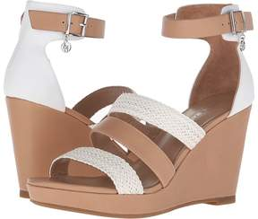 Armani Jeans Leather and Woven Eco Leather Wedge