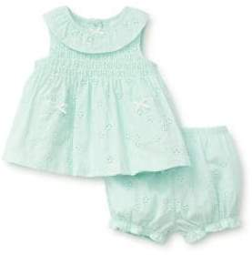 Little Me Baby Girl's Two-Piece Cotton Top and Shorts Set