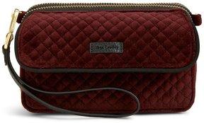 Vera Bradley Iconic RFID All in One Velvet Cross-Body Bag - CHOCOLATE RAISIN - STYLE