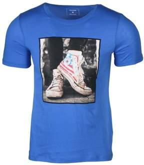 Converse Men's Americana Chuck Sneakers T-Shirt-Blue-Medium