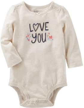 Osh Kosh Oshkosh Bgosh Baby Girl Love You Bodysuit