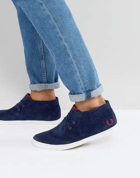 Fred Perry Byron Mid Suede Sneakers in Blue