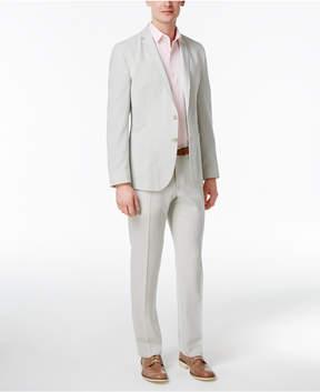 Nick Graham Men's Slim-Fit Stretch Sage and White Seersucker Suit