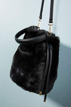 Anthropologie Faux Fur Crossbody Bucket Bag