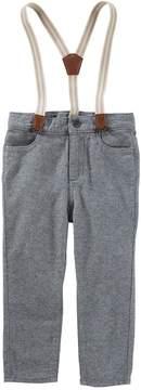 Osh Kosh Toddler Boy Suspender Knit Pants