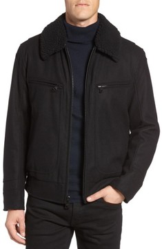 Andrew Marc Men's Concord Faux Shearling Aviator Jacket