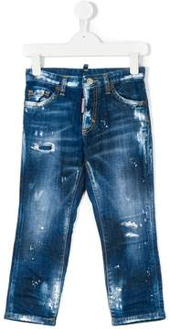 DSQUARED2 distressed fitted jeans