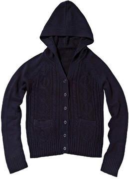 U.S. Polo Assn. USPA Long-Sleeve Cable Knit Hoodie - Preschool Girls 4-6x