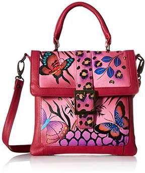 Anuschka Anna by Genuine Leather Flap Saddle Bag | Hand-Painted Original Artwork |