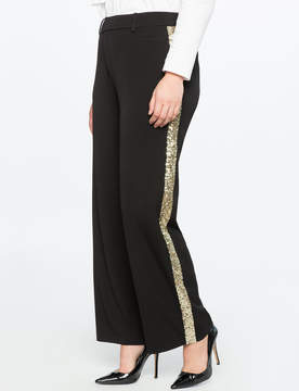 ELOQUII Sequin Side Stripe Trouser