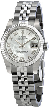 Rolex Lady Datejust 26 White Mother-of-pearl Dial Stainless Steel Jubilee Bracelet Automatic Watch