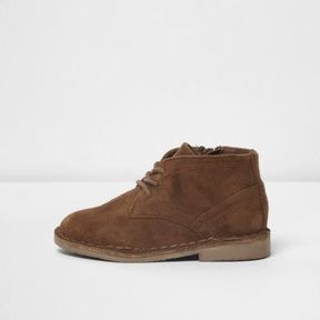 River Island Mini boys tan faux suede desert boots