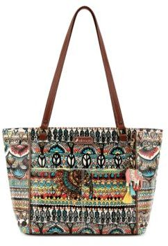 Sakroots Artist Circle Printed Satchel Bag