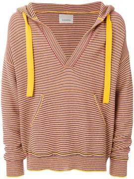 Laneus striped hooded jumper