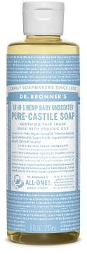 Dr. Bronner's Baby-Unscented Pure-Castile Liquid Soap - 8oz