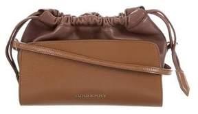 Burberry Leather Drawstring Crossbody Bag - BROWN - STYLE