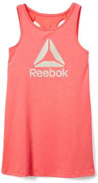 Reebok Coral Heather 'Reebok' Swing Dress - Toddler & Girls
