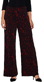Bob Mackie Bob Mackie's Regular Pull-On Lace Print KnitPants
