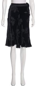 Blumarine Velvet Pavé Skirt