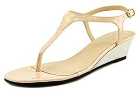 Callisto Spring Open Toe Synthetic Wedge Sandal.