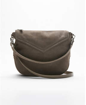 Express genuine suede hobo
