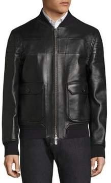 Bally Reversible Leather Bomber Jacket