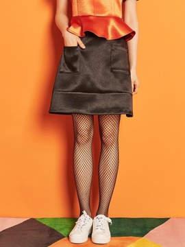 Blank Satin Mini Skirt Bk