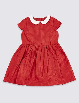 Marks and Spencer Peter Pan Collar Dress (1-10 Years)