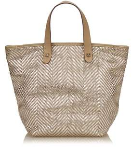 Hermes Pre-owned: Polyester Chennai Pm. - BROWN X BEIGE X SILVER - STYLE