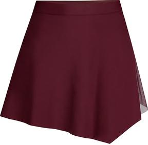 Capezio Burgundy Asymmetrical Skirt - Women