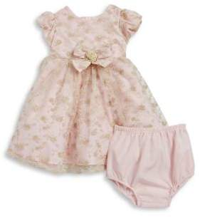 Little Me Baby Girl's Two-Piece Floral Lace Dress and Bloomers Set