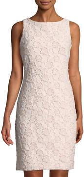 Donna Ricco Floral-Jacquard Shimmer Mini Dress, Pink