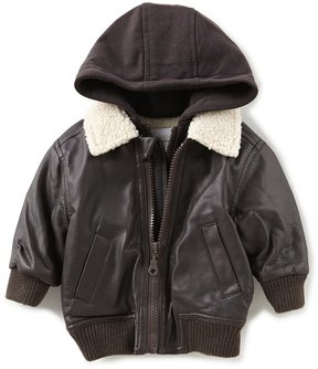 Starting Out Baby Boys 3-24 Months Hooded Aviator Bomber Jacket